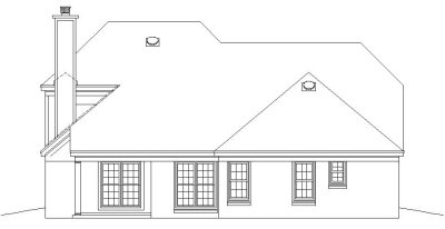 Rear Elevation Plan: 6-201
