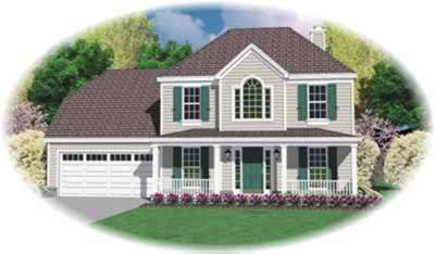 Country Style Floor Plans Plan: 6-202