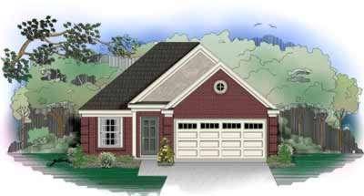 European Style Home Design Plan: 6-206