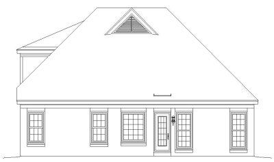 Rear Elevation Plan: 6-207