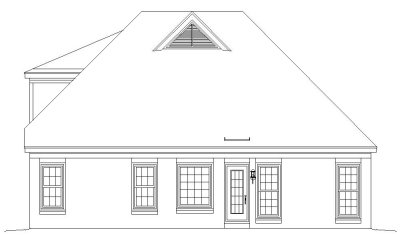 Rear Elevation Plan: 6-208