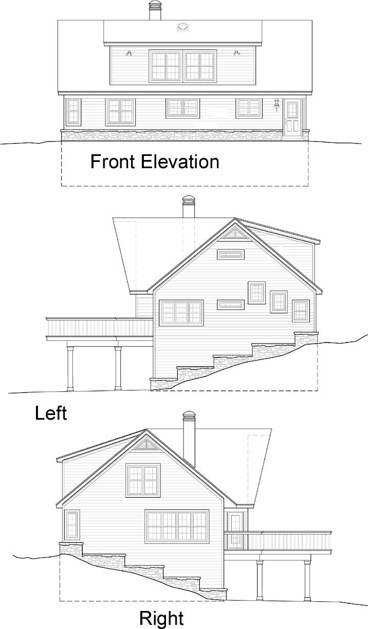 Rear Elevation Plan: 6-209