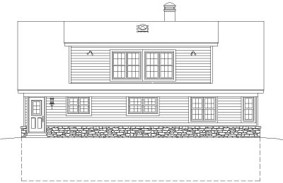 Rear Elevation Plan: 6-214