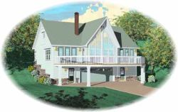 Contemporary Style House Plans Plan: 6-214