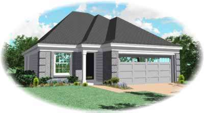 Southern Style Home Design Plan: 6-219