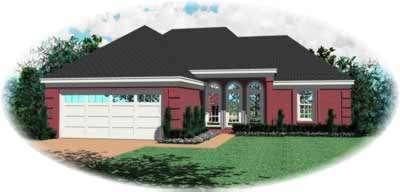 European Style Home Design Plan: 6-220