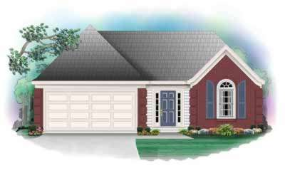 European Style Home Design Plan: 6-221