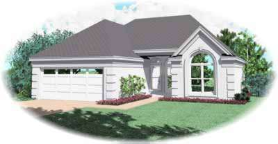 European Style Home Design Plan: 6-222