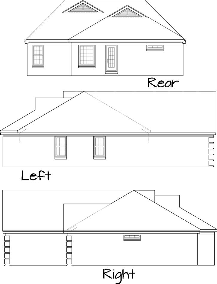 Rear Elevation Plan: 6-223