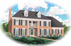Georgian Style Home Design Plan: 6-227
