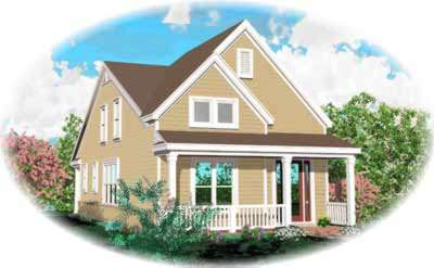 Country Style Home Design Plan: 6-235