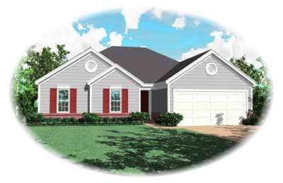 Ranch Style Home Design Plan: 6-237