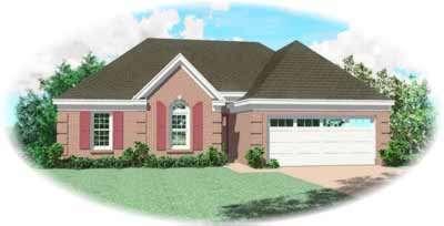 European Style Home Design Plan: 6-240