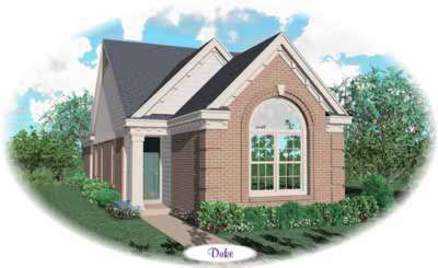 European Style Home Design Plan: 6-242