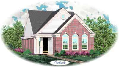 European Style Home Design Plan: 6-246