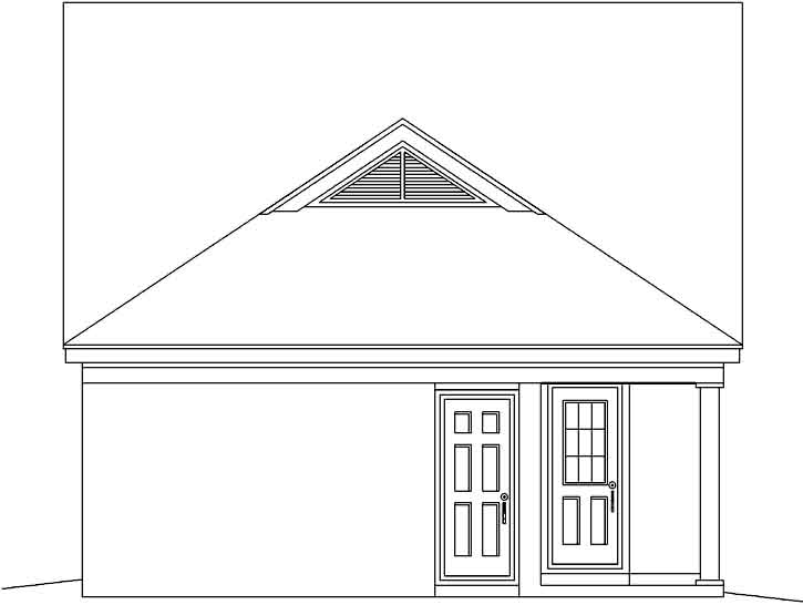 Rear Elevation Plan: 6-246