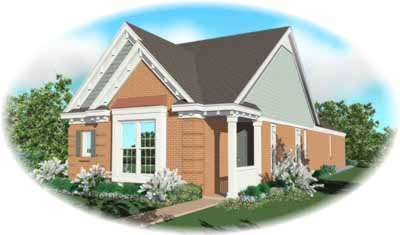 Southern Style Home Design Plan: 6-247