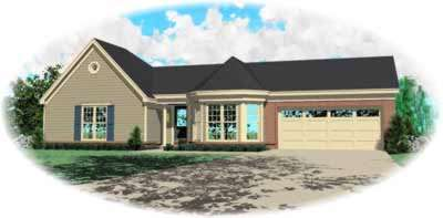 Ranch Style Home Design Plan: 6-253