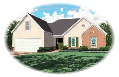 Traditional Style Home Design Plan: 6-256