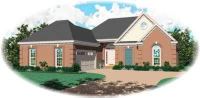 Southern Style Home Design Plan: 6-258