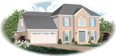 Southern-colonial Style House Plans Plan: 6-259