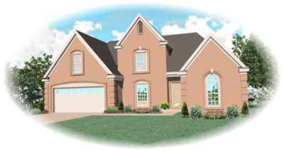European Style Home Design Plan: 6-270