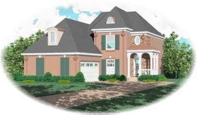 European Style House Plans Plan: 6-271