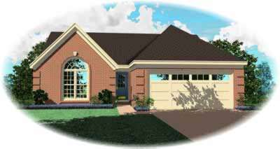 Traditional Style Home Design Plan: 6-276
