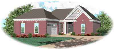 Traditional Style Home Design Plan: 6-278