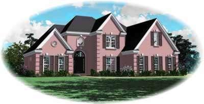 European Style Home Design Plan: 6-281