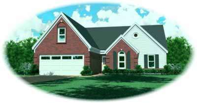 Traditional Style Home Design Plan: 6-282