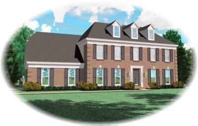 Southern-colonial Style House Plans Plan: 6-287