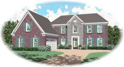 Southern-colonial Style Home Design Plan: 6-290