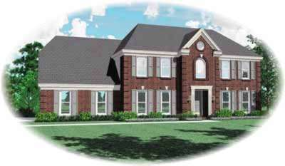 Southern-colonial Style House Plans Plan: 6-292