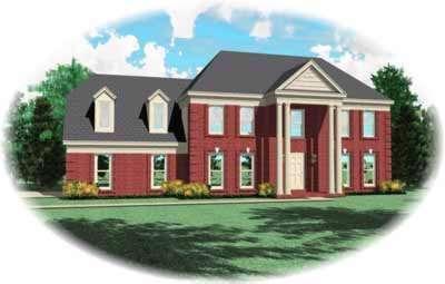 Georgian Style House Plans Plan: 6-295