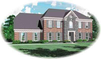 Southern-colonial Style Floor Plans Plan: 6-299