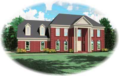 Southern-colonial Style House Plans Plan: 6-305