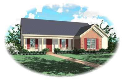 Country Style Floor Plans Plan: 6-311