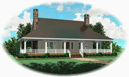 Country Style Home Design Plan: 6-315