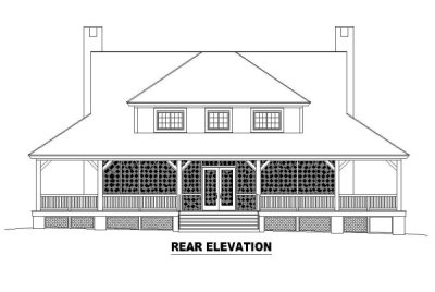 Rear Elevation Plan: 6-319