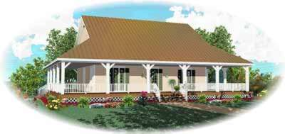 Country Style Home Design Plan: 6-320