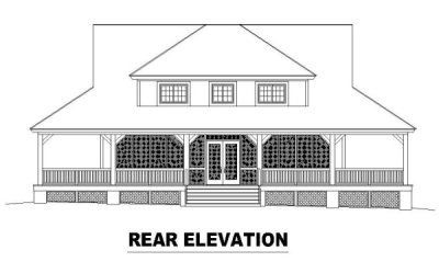 Rear Elevation Plan: 6-320