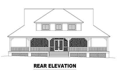 Rear Elevations Plan:6-322