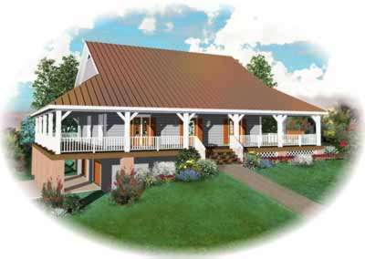 Country Style Home Design Plan: 6-323