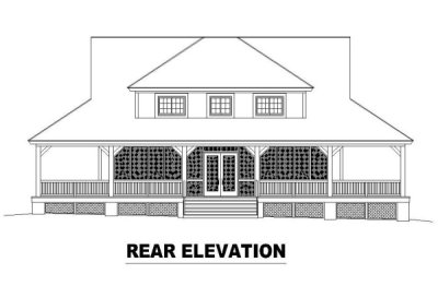 Rear Elevation Plan: 6-323