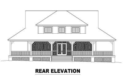 Rear Elevation Plan: 6-324