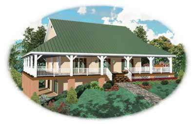 Country Style Floor Plans Plan: 6-325
