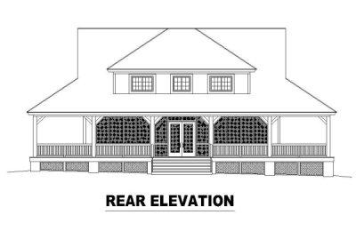 Rear Elevation Plan: 6-325