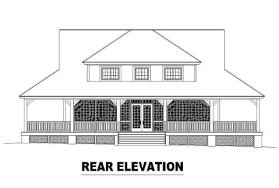 Rear Elevation Plan: 6-326