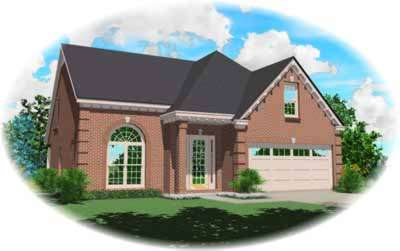 European Style Home Design Plan: 6-331
